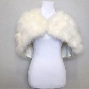 Vintage ostrich feather wedding shoulder cape